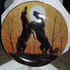 "Danbury Mint Donald W Patterson Plate Collection ""Stallions at Sunrise"" Coa Nib"