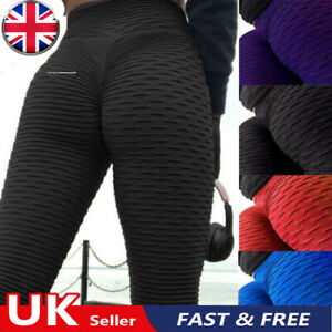 Womens Anti-Cellulite High Waist Yoga Pants Gym Leggings Sports Elastic Trousers