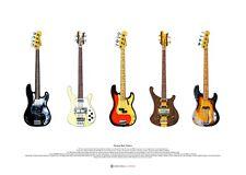 Famous Bass Guitars #2 Poster Artistico-formato A2