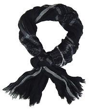 Bufanda Hombre Negro Blanco Gris de Ella Jonte Ligero Bufanda Algodón Viscosa