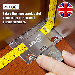 Zezzo Measuring Tape Clip Clamp for Corners  Precision Measuring Aid Holder Tool