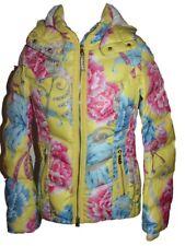 Bogner Cosma D Team Damen Ski Jacke Gelb Rosa Blau Größe 36 S Neu mit Etikett