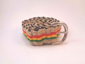 "New! Eco-Friendly Handmade Hemp and Cotton Rasta Belt 48"""