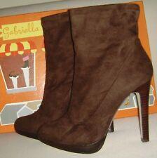 9eeb75bb28c8 GABRIELLA ROCHA Brown Suede Ankle Boots