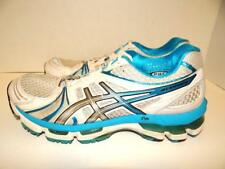 ASICS Gel-Kayano 18 Women's Size 8 Shoes White Blue Running Trainers T250N