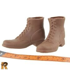 Shore Patrol - Brown Boots (for Feet) #1 - 1/6 Scale - SOW Action Figures