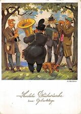 BG14979 music band man playing trumpet dog birthday geburtstag    germany