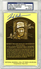 Rickey Henderson SIGNED Baseball Hall of Fame Plaque A's PSA/DNA AUTOGRAPHED