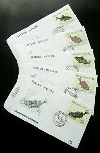 [SJ] Belgium Freshwater Fish 1990 Fauna Water (FDC) *see scan