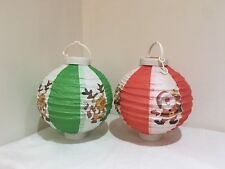 2 PACK LIGHT UP PAPER LANTERNS CHRISTMAS PARTY DECORATIONS