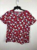 95f316db1 Hello Kitty Scrub Top womens size S Small you Sanrio cat hearts ...