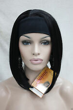Fashion Woman Ladies 3/4 wig with headband womens short half wig + wig cap