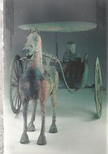 Bronze Light Carriage   Han Dynasty   Chrome Postcard 12218