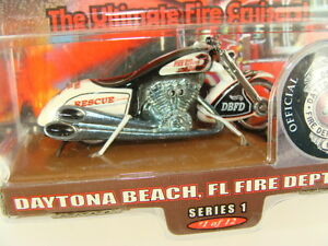 Hot Wheels Scorchin' Scooter Daytona Beach, FL Fire Department Motorcycle