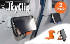 New listing The SkyClip - (Orange, 2 Pack) Airplane Cell Phone Seat Back Tray Orange