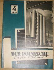 Der polnische Exporteur Heft 4/1956 Zeitschrift Polen Handel Maschinenbau