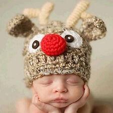 Baby Fotografie Strick Mütze Hirsche Deer Kostüm Fotoshooting Häkel Neugeborenen