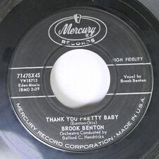 50'S/60'S 45 Brook Benton - Thank You Pretty Baby / With All Of My Heart On Merc