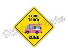"*Aluminum* Food Truck Zone Funny Metal Novelty Sign 12""x12"""