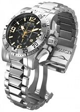 MEN'S  InvictA 15302  Excursion  Swiss made Diver 200 M BLACK 50MM  DIAL NEW