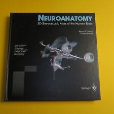 NEUROANATOMY 3D-STEREOSCOPIC ATLAS OF HUMAN BRAIN SPRINGER VERLAG MIT 3D-BRILLE