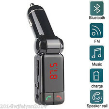 Car SUV Wireless Bluetooth FM Transmitter MP3 Player LCD Hands Free 2USB Charger
