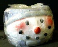 "Luminary Snowman Head Candle 5 x 4"""