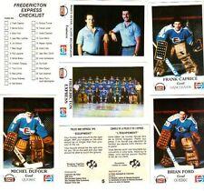 1983-84 Fredericton Express Team Set Police Set (26) NRMT Rick Lapointe Pepsi