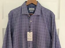 NWT $148 Robert Graham X Collection Tailored Fit Button-Front Shirt Size 44-17.5