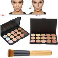 New 15 Colors Fashion Women Concealer Palette kit Face Makeup Contour Cream Set