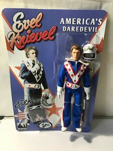 EVEL KNIEVEL; 12 INCH  FIGURE; BLUE HELMUT, LOOSE NEW MINT  PADDED BAG SHIP ONLY