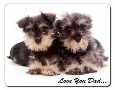 Miniature Schnauzers 'Love You Dad' Computer Mouse Mat Christmas Gift I, DAD-97M