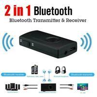 Bluetooth 5.0 Transmitter Receiver 2 IN 1 Wireless Audio 3.5mm Aux Jack G0W5