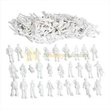 100PCS Figures 1:100 Scaled Models Train Building People Models For Layout White