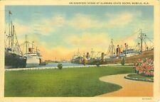 Mobile,AL. Everyday 1940 Scene at the Alabama State Docks