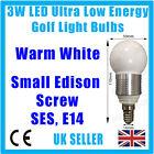 4x 3w LED Bajo Consumo, blanco cálido, GOLF Bombillas, B22, E27 o E14