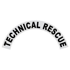 Technical Rescue Black Helmet Crescent Reflective Decal Sticker