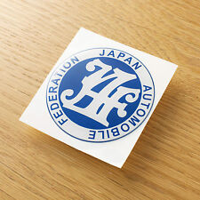 JAF japan automobile federation Sticker Decal soft coated Datsun 510 D21 620 720
