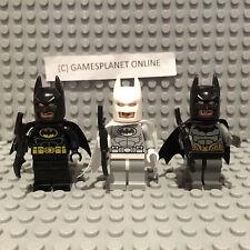 LEGO DC MINIFIGURES 76000, 76012, 76013 - TRIO BATMAN WHITE, BLACK & GREY - NEW!