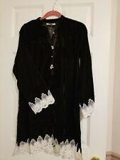 Brand New Pakistani/ Indian Designer IMAGE Velvet Black Shirt / Kurta - Medium
