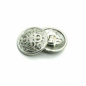 10Pcs Round Metal Buttons Sewing Scrapbooking Craft 15mm-28mm DIY Accessories