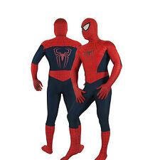 Fantastic!!! Red & Dark Blue Lycra/Spandex Spiderman Hero Zentai Costume S-XXL