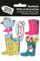 Wellie Boots DIY Greeting Card Toppers Stick-on Craft Decorations