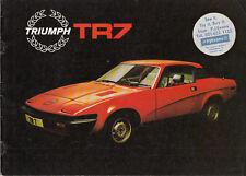 TRIUMPH TR7 F.H.C. BROCHURE, REF.26/16 (19832) 11/78-50m PUBLICATION No.3256/C.