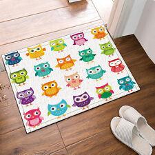 Kitchen Bath Bathroom Shower Floor Home Door Mat Rug Non-Slip Cartoon owl