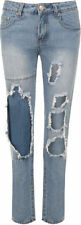 Jeans da donna blu denim stonewashed