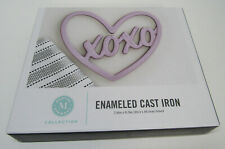 Martha Stewart Collection Enameled Cast Iron Trivet - XOXO