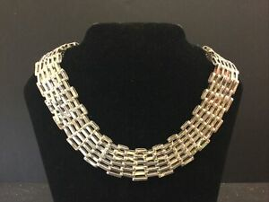 BOLD TAXCO MEXICAN 925 STERLING SILVER HEAVY CHAIN LINK NECKLACE 162g