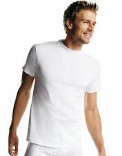 Hanes Men's White Crewneck T-Shirt 6-Pack Undershirt Tee TAGLESS FreshIQ Comfort