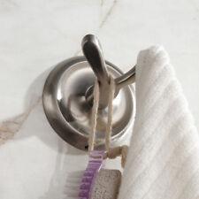 Wall Mount Hook Bathroom Hand Towel Bath Shower Hanger Holder SUS Brushed Nickel